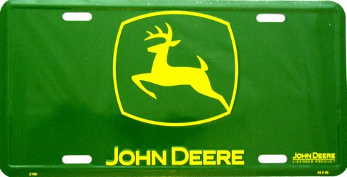 LP - 058 John Deere Green - Logo Only License Plate - 197