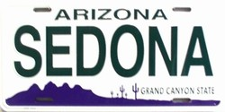 LP - 1063 AZ Arizona Sedona License Plate - 1666