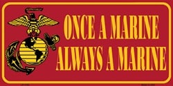 Lp 1154 Once A Marine Always A Marine License Plate X354 image