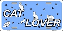 LP - 1162 Cat Lover License Plate - 2702