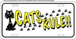 LP - 1199 CATS RULE License Plates - X389