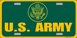LP - 122 US Army License Plate - 594
