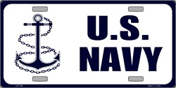 LP - 123 US Navy Anchor License Plate - 595