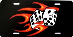 LP - 2007 Red Hot Flaming Dice License Plate