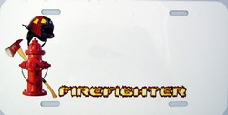 LP - 2011 Firefighter License Plate for Airbrushing