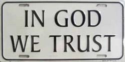 LP - 261 In God We Trust License Plate - 74