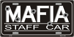 LP - 351 Mafia Staff Car License Plate - 35