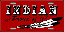 LP - 360 Indian and Proud License Plate - 492