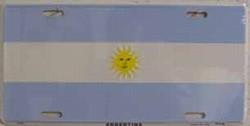 LP - 474 Argentina Flag License Plate - 2355