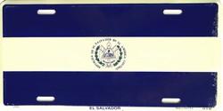 LP - 478 El Salvadore Flag License Plate - 2364