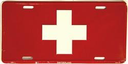 LP - 487 Switzerland Flag License Plate - 2380
