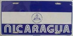 LP - 492 Nicaragua Flag License Plate - 2393