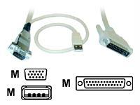 ROSE ELECTRONICS CAB-CXUSBC020 Video-USB Cable USB HD-15M-DB-25M 20ft