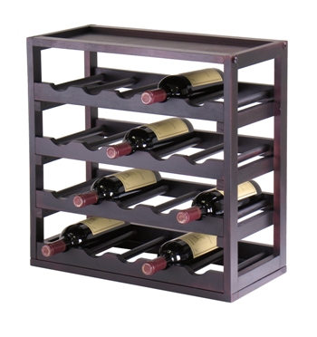 Winsome 92145 Kingston Modular Stackable 20 Bottle Wine Cubby - Espresso