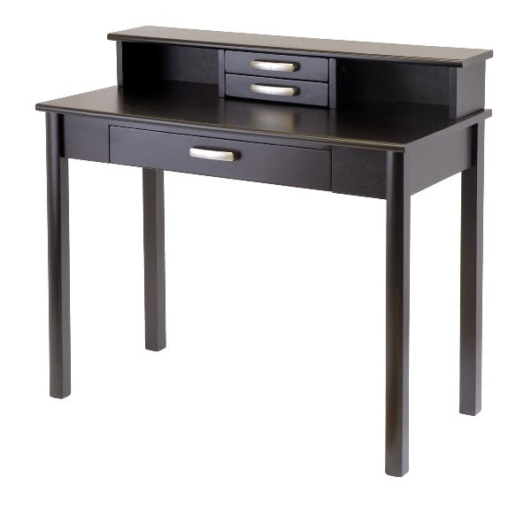Winsome 92273 Liso 2pc Home Office Set - Writing Desk with Hutch - Espresso