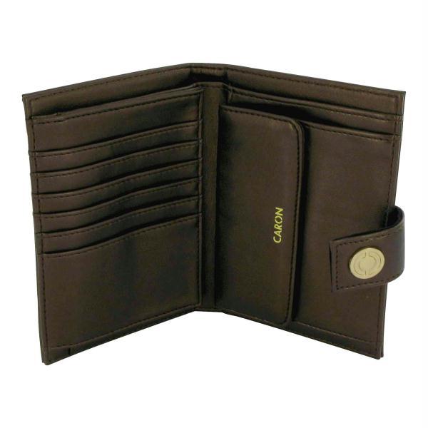 Clutch Purses - Caron 452422 Eaux De Caron Forte By Caron Brown Leather Clutch Purse -
