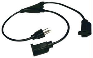 TRIPPLITE P022-001-2 1-FT POWER EXTENSION CABLE SPLITTER