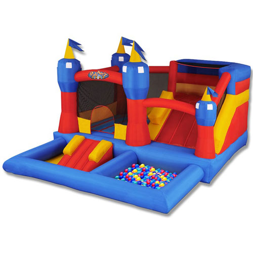 Blast Zone Misty Kingdom Inflatable Bounce House