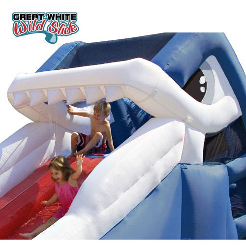 Blast Zone Great White Inflatable Waterslide
