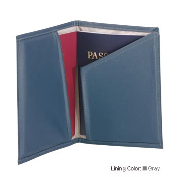 Casauri PC45DECOSL Passport Case Deco  Slate Blue