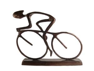 Danya B. ZL480L Large Cyclist Sculpture-Cast Aluminum