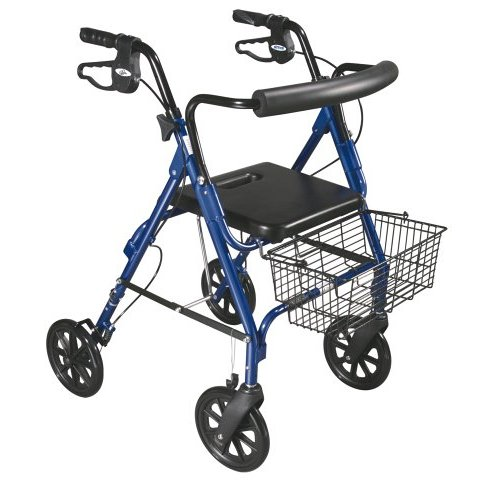 Drive Medical 750NB D-Lite Rollator-Blue-1- Case