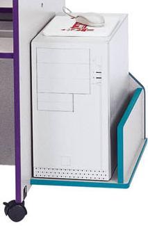 Jonti-Craft 3493JC112 - Rainbow Accents Thrifty KYDZ CPU Booth - Navy Trim