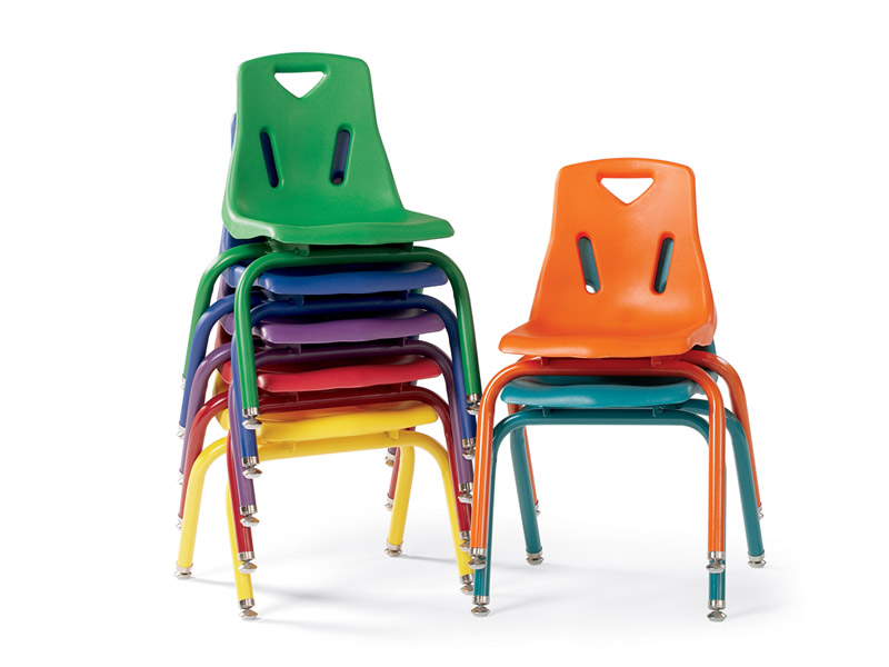 Jonti-Craft 8120JC6114 - Berries Plastic Chairs With Powder Coated Legs - 10 Inches High - Set Of 6 - Orange