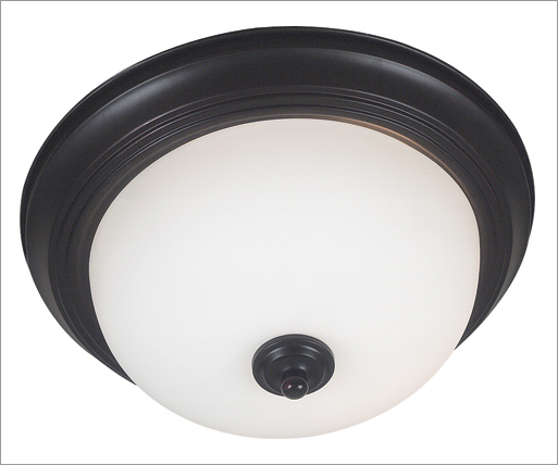Kenroy Home 80369ORB Triomphe 3 Light Large Flush CFL- Oil Rubbed Bronze Finish