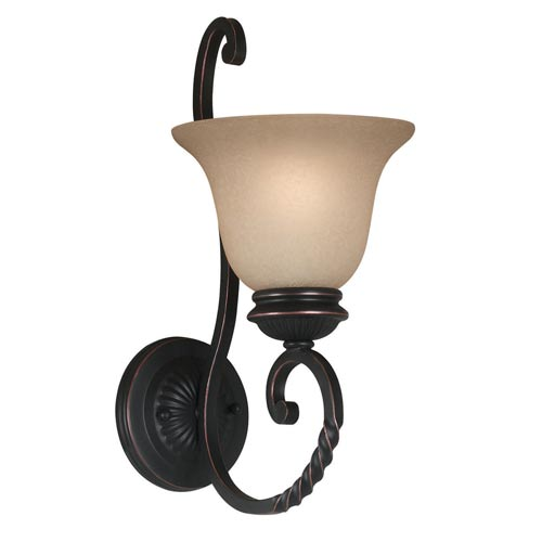Kenroy Home 10192ORB Oliver Wall Sconce- Oil Rubbed Bronze Finish