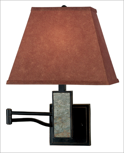 Kenroy Home 20382SL Dakota Wall Swing Arm Lamp- Slate Finish