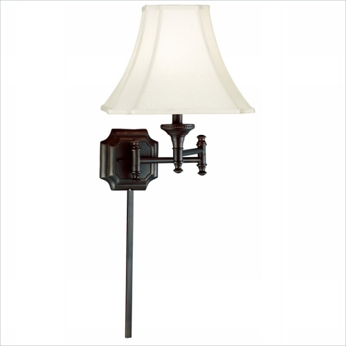 Kenroy Home 33054BBZ Wentworth Wall Swing Arm Lamp- Burnished Bronze Finish