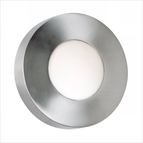 Kenroy Home 72824PA Burst Large Round Sconce-Flush- Polished Aluminum Finish