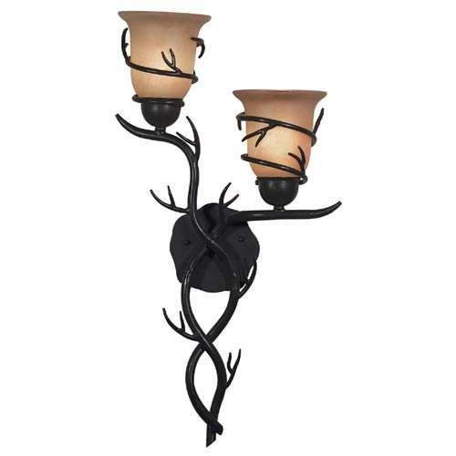 Kenroy Home 92136BRZ Twigs Sconce -2 Light- Bronze Finish