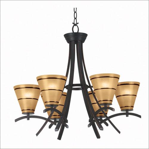 Kenroy Home 90086ORB Wright 6 Light Chandelier- Oil Rubbed Bronze Finish