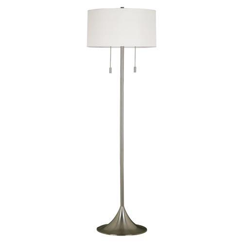 Kenroy Home 21405BS Stowe Floor Lamp- Brushed Steel Finish