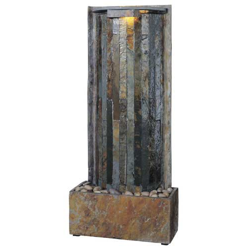 Kenroy Home 50285SL Waterwall Table-Wall Fountain- Natural Green Slate Finish