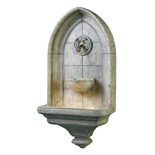 Kenroy Home 53265CT Canterbury Wall Fountain- Cement Finish