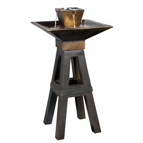 Image of Kenroy Home 50613CPBZ Kenei Floor Fountain- Copper Bronze Finish