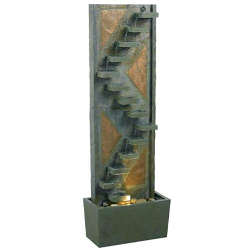 Kenroy Home 53205SLCP Traverse Floor Fountain- Natural Slate Finish
