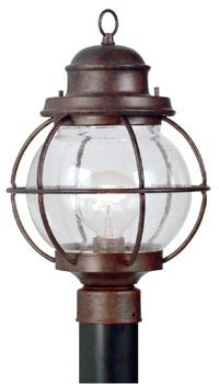 Kenroy Home 90967GC Hatteras 1 Light Post Lantern- Gilded Copper Finish
