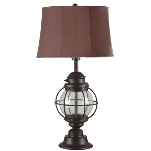 Kenroy Home 03070 Hatteras Table Lamp- Gilded Copper with Seeded Glass Finish