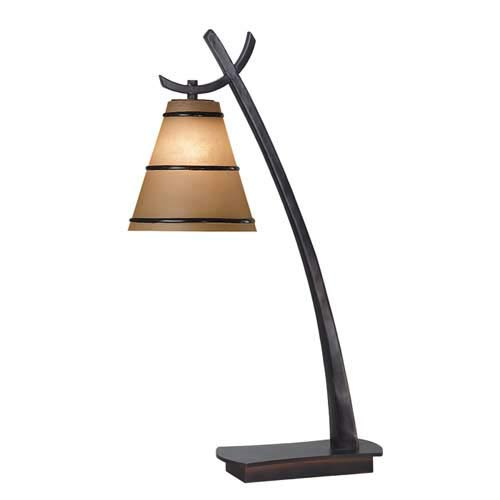 Kenroy Home 03332 Wright 1 Light Table Lamp- Oil Rubbed Bronze Finish