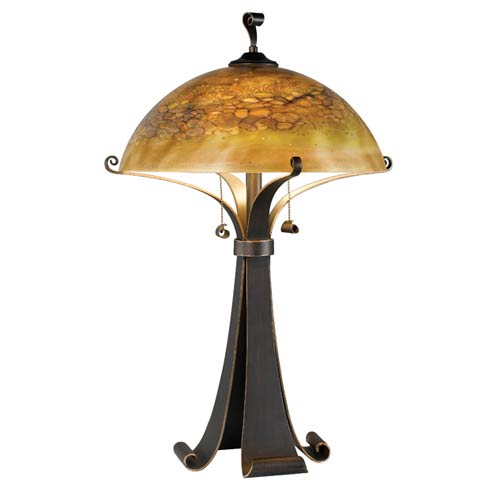 Kenroy Home 20085CHC Sante Fe Table Lamp- Chocolate Caramel Finish