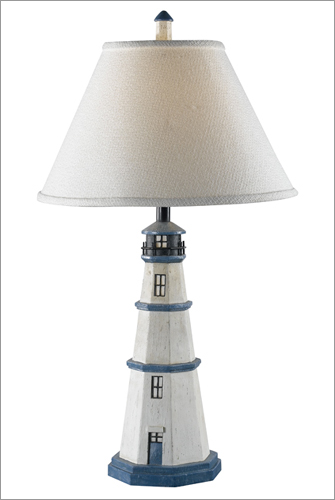 Kenroy Home 20140AW Nantucket Table Lamp- Antique White Finish