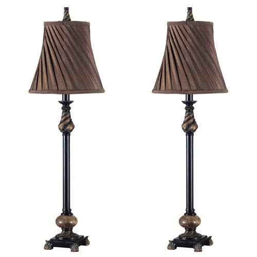 Kenroy Home 20466ORB Aruba 2 Pack Buffet Lamp- Oil Rubbed Bronze Finish