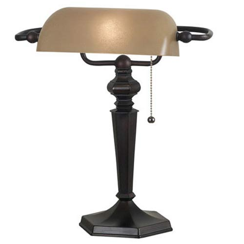 Kenroy Home 20610ORB Chesapeake Banker Lamp Oil Rubbed Bronze Finish