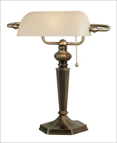 Kenroy Home 20615GBRZ Mackinley Banker Lamp- Georgetown Bronze Finish