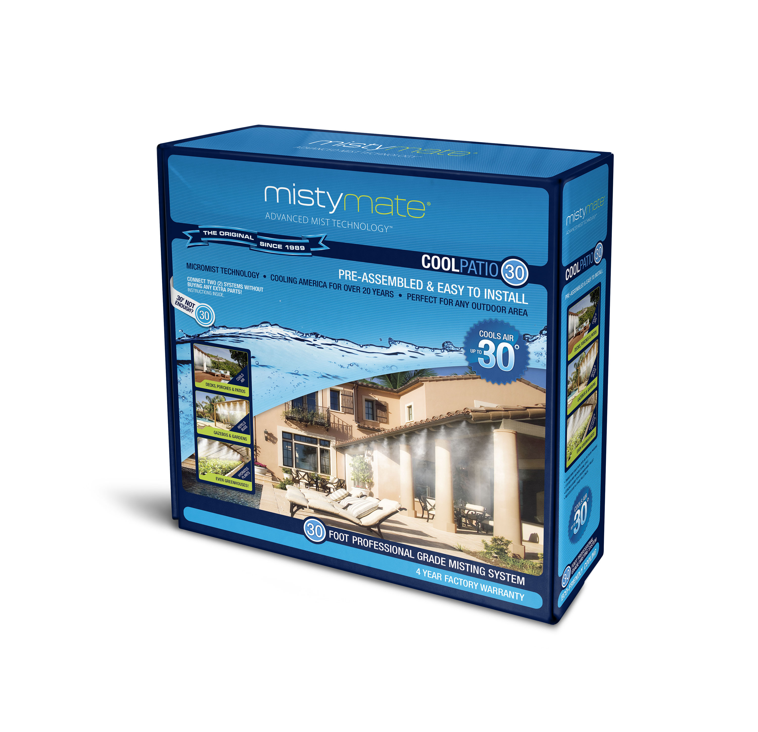 MistyMate 16 030 30' Cool Patio 30 Outdoor Misting System
