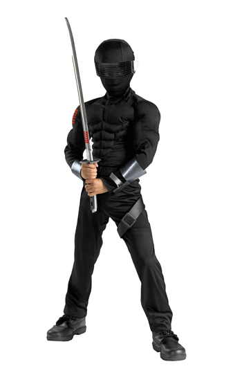 Costumes For All Occasions DG50372L Snake Eyes Classic Muscle Small MRRS16910